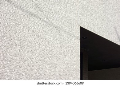 Exterior wall of the house