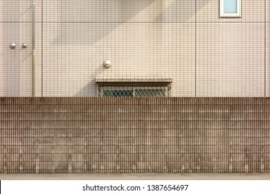Exterior wall of a house background