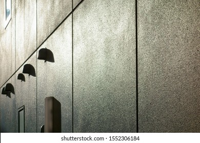 The exterior wall of office building
