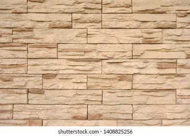 Exterior wall stone siding background