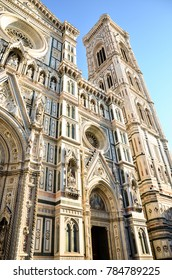 The exterior wall surface of Florence Cathedral -Santa Maria del Fiore