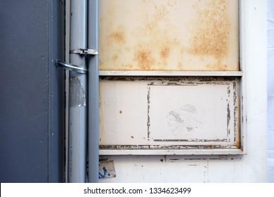 Exterior wall under repair