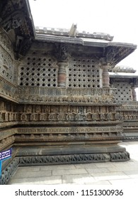 Exterior walls of Ancient Chenna Keshava temple at Belur, India