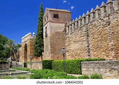 Exterior walls of city of Cordoba, Spain
