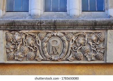 External detail on the wall of the São Bento Monastery located in the city center of São Paulo