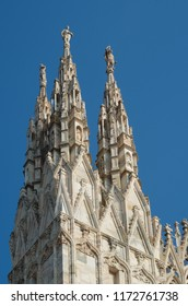 External details of the gothic cathedral in Milan, Italy ( Duomo di Milano )