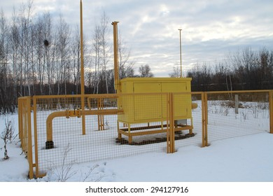 External the gas equipment in winter conditions