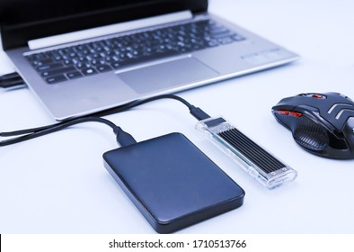 external hard disk connect to computer notebook