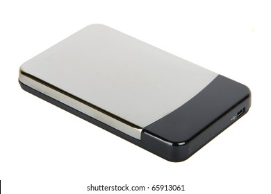 External hard disk drive isolated on white background