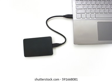 External Hard drive connected to the Laptop Computer