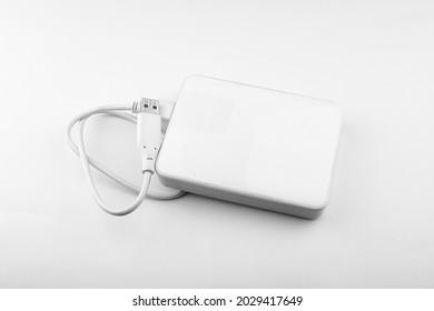 External Hard drive, external hard disk, external memory, external storage, isolated on white background