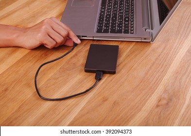 external harddisk connect by USB 3.0 port to laptop computer