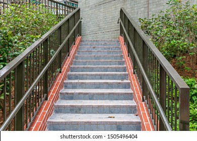 External Stairs With Banister to Building Access