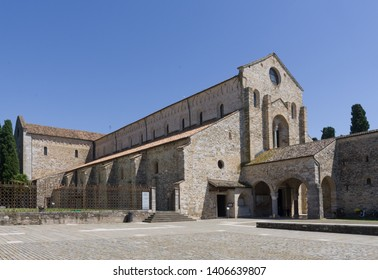 External view of the Basilica of Aquileia (Italy) dated to IV century, famous for its beautiful mosaics