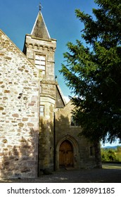 An external view of a church building in the remote hamlet of Caputh in Perthshire