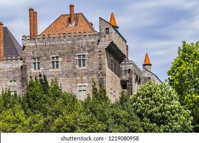 External view of Guimaraes Palace of Dukes of Braganza (Paco dos Duques de Braganca, 1422) - medieval estate and former residence of first Dukes of Braganza. Guimaraes, Portugal.