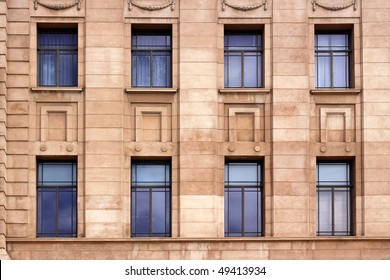 External Wall with Windows on Historic Building.  Adelaide, Australia