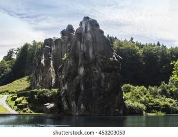 The Externsteine in the Teurtoburg forest, Germany