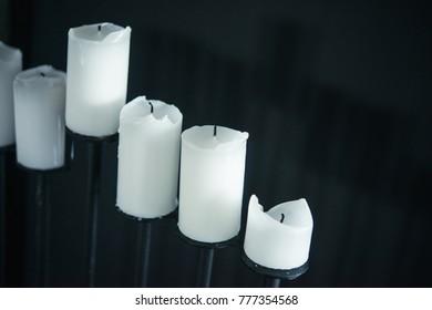 extinct white big candles