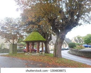 EXTON, RUTLAND, UK - OCTOBER 1 2017: The Old Village Water Pump