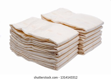 Extra large size briefs for adults isolated on white background. Diapers for adults.