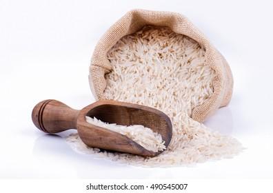 extra long grain basmati rice in sack