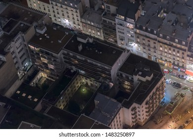 Extract of city of Paris from aerial view
