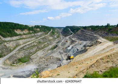 extraction of graphite in career. Russia South Ural tayginka