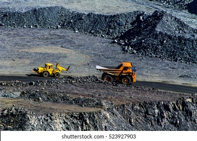 Extraction of iron ore in career Southern Mining Processing Plant.