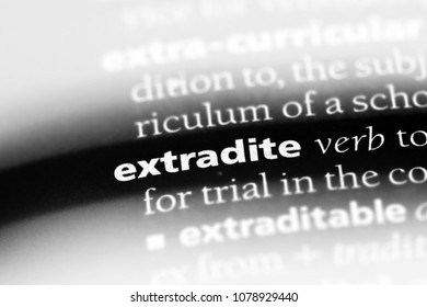 Extradite Word In A Dictionary. Extradite Concept