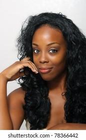 An extraordinarily beautiful young black woman.