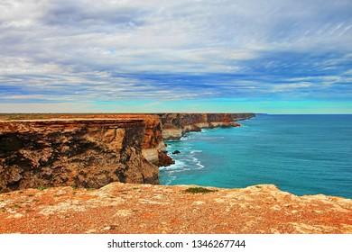 Extraordinary cliffs in southern Australian coast