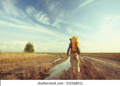 extreme brutal man traveler wildlife autumn