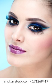 Extreme, casual makeup. Fashion model