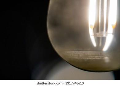 Extreme close up backyard string lights