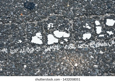 a extreme close up of the street blacktop