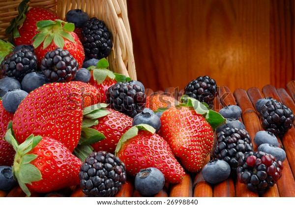 Extreme close-up image of berries with great depth of field