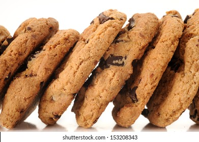 Extreme close-up image of cookies