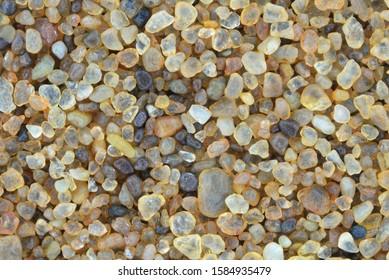 Extreme close-up of sand grains. Namib desert.