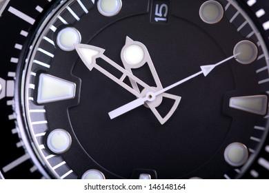 Extreme macro shot of a wrist watch