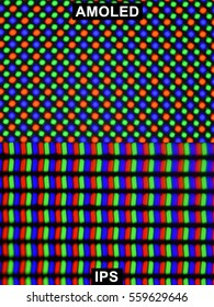 Extreme magnification - RGB, IPS and AMOLED screen comparison at 10x