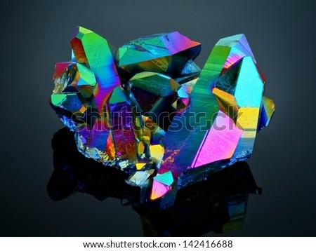 extreme sharp titanium rainbow aura quartz stock photo edit now