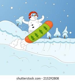 Extreme snowman