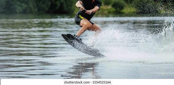 extreme sport wakeboard surfing man