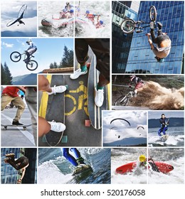 Extreme sports collage