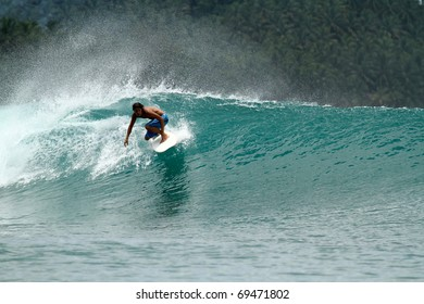 Extreme surf sport, perfect wave on vacation