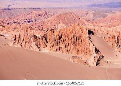 Extreme terrain of the Death valley in Atacama desert at San Pedro de Atacama, Chile.