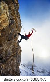 extreme winter climbing