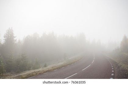 Extremely foggy road