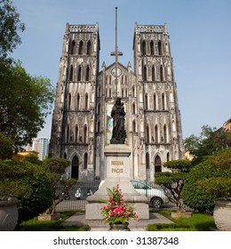 An extremely old and neo-gothic Catholic Cathedral found in Hanoi, Vietnam